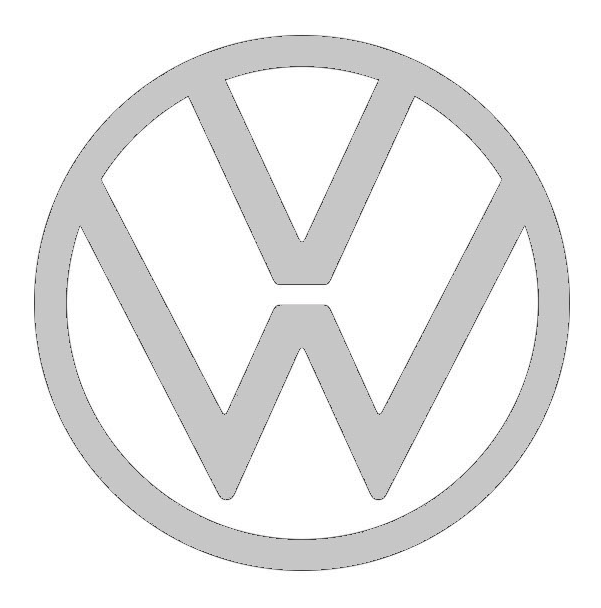 Reloj de pared negro VW T3