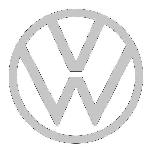 Termo plateado Volkswagen.